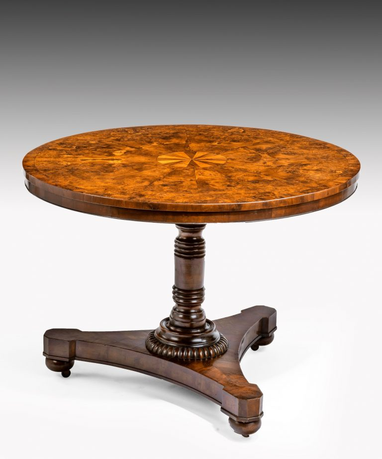 Regency yew centre table